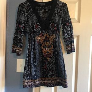 XXI embroidered dress